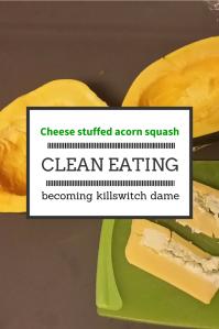 Cheese stuffed acorn squash (2)